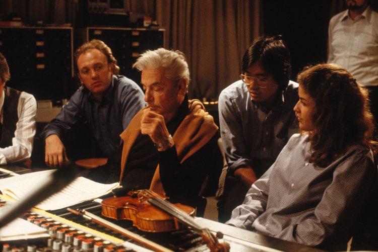 <p>Aufnahme des Beethoven Triple Konzertes, mit Mark Zeltser (Piano) und Yo-Yo Ma (Cello), Philharmonie Berlin, September 1979</p>