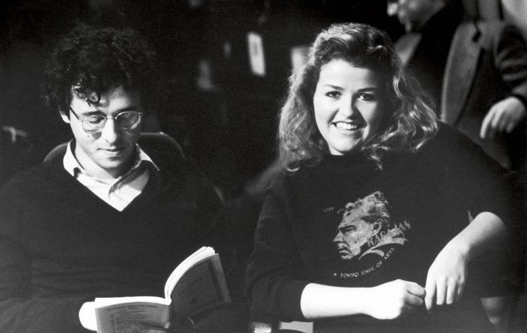 Mit Antonio Meneses, Violoncello, bei den Aufnahmen zum Brahms Doppelkonzert, Berlin 1983