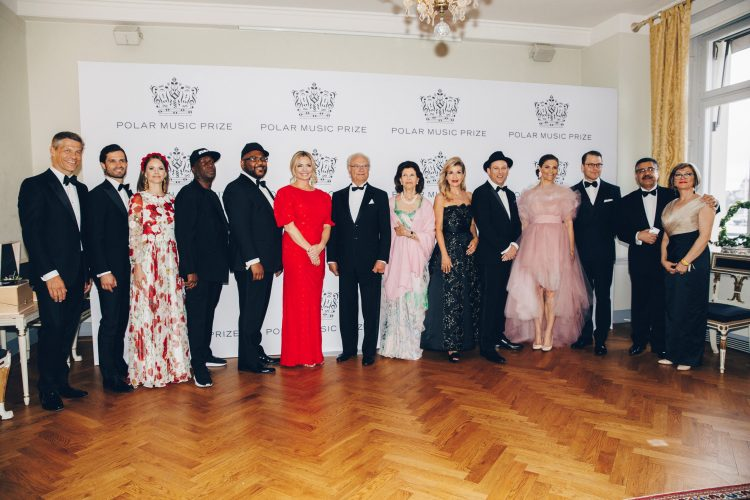 <p>From the left: Frank Briegmann, CEO & President Universal Music Central Europe and Deutsche Grammophon; Prince Carl-Philip; Princess Sofia; Grandmaster Flash; DJ Maseo; Whitney Kroenke, The Playing for Change Foundation; King Carl XVI Gustaf of Sweden; Queen Silvia of Sweden; Anne-Sophie Mutter; Mark Johnson, The Playing for Change Foundation; Crown Princess Victoria; Prince Daniel; Ahmad and Mary Sarmast, Founder and Director of the Afghanistan National Institute of Music. Photo: Annika Berglund © Polar Music Prize</p>
