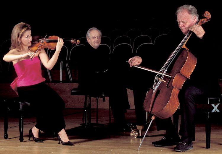 mit Lynn Harrel und Sir André Previn